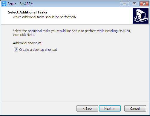 create a desktop shortcut shareit win 7