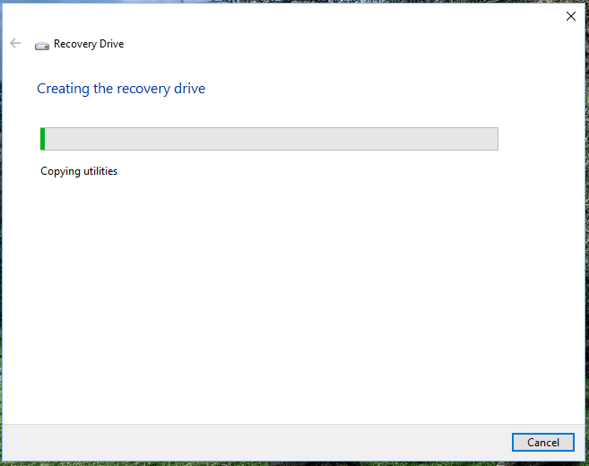 create and the recovery drive Windows 10