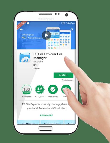 Download and install ES File Explorer File Manager
