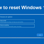 How to reset windows 10