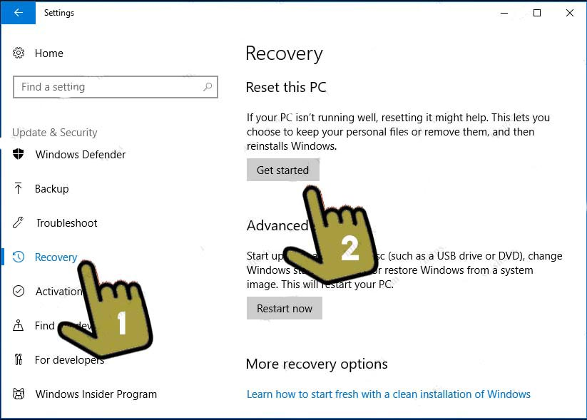 How to reset-this-pc-windows-10