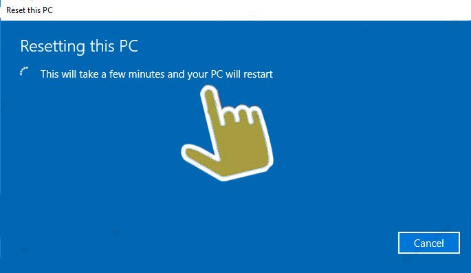 Resetting this PC WINDOWS 10
