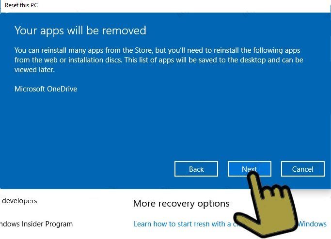 how to your-apps-will-be-removed-windows-10