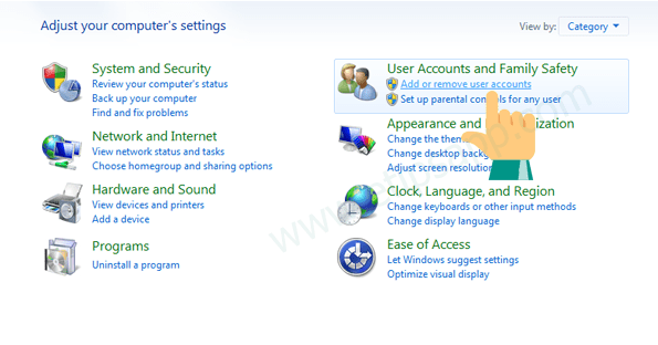 add or remove user account windows 7