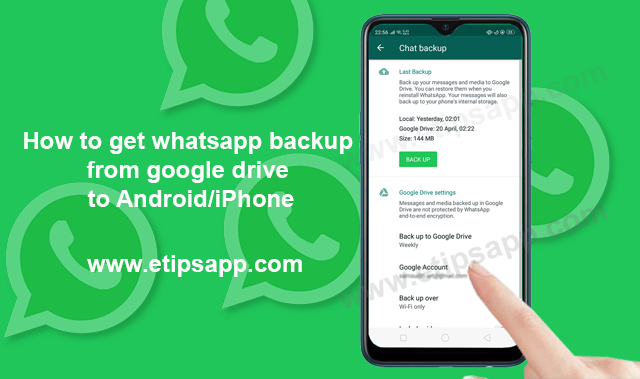 how do i backup whatsapp to google drive on iphone