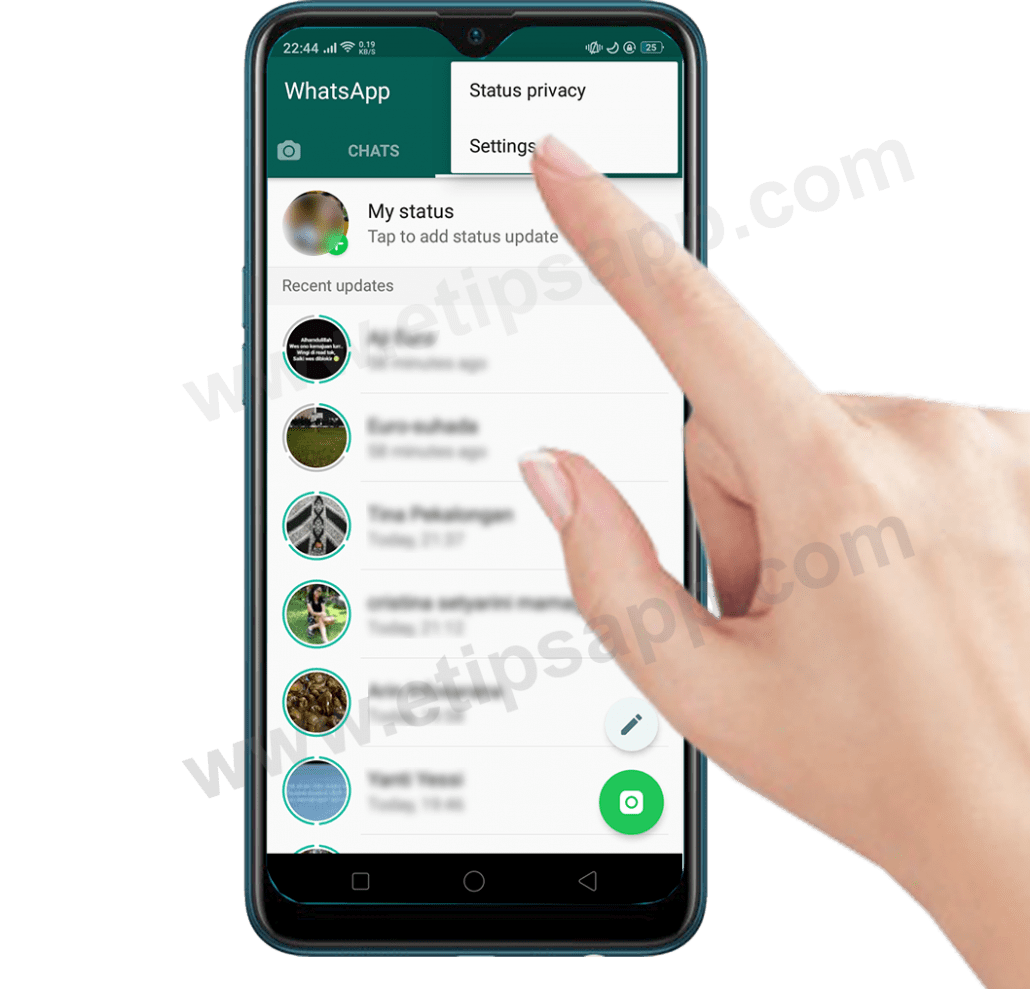 Settings backup whatsapp google drive