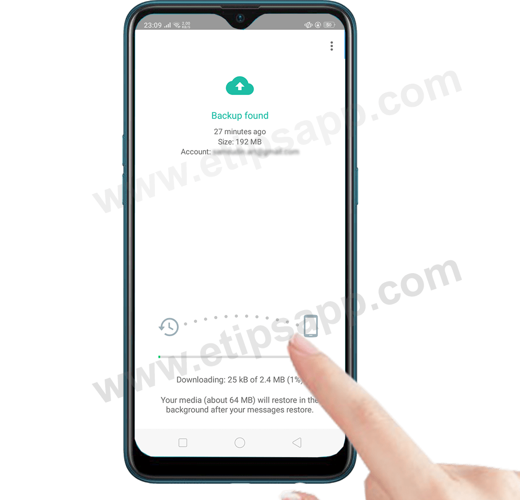 download backup whatsapp