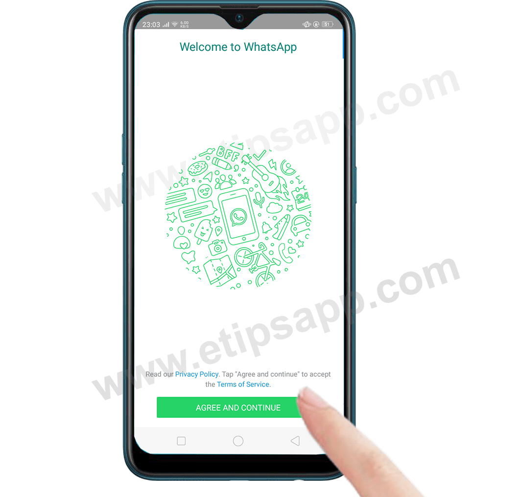 how to install whatsapp new phone