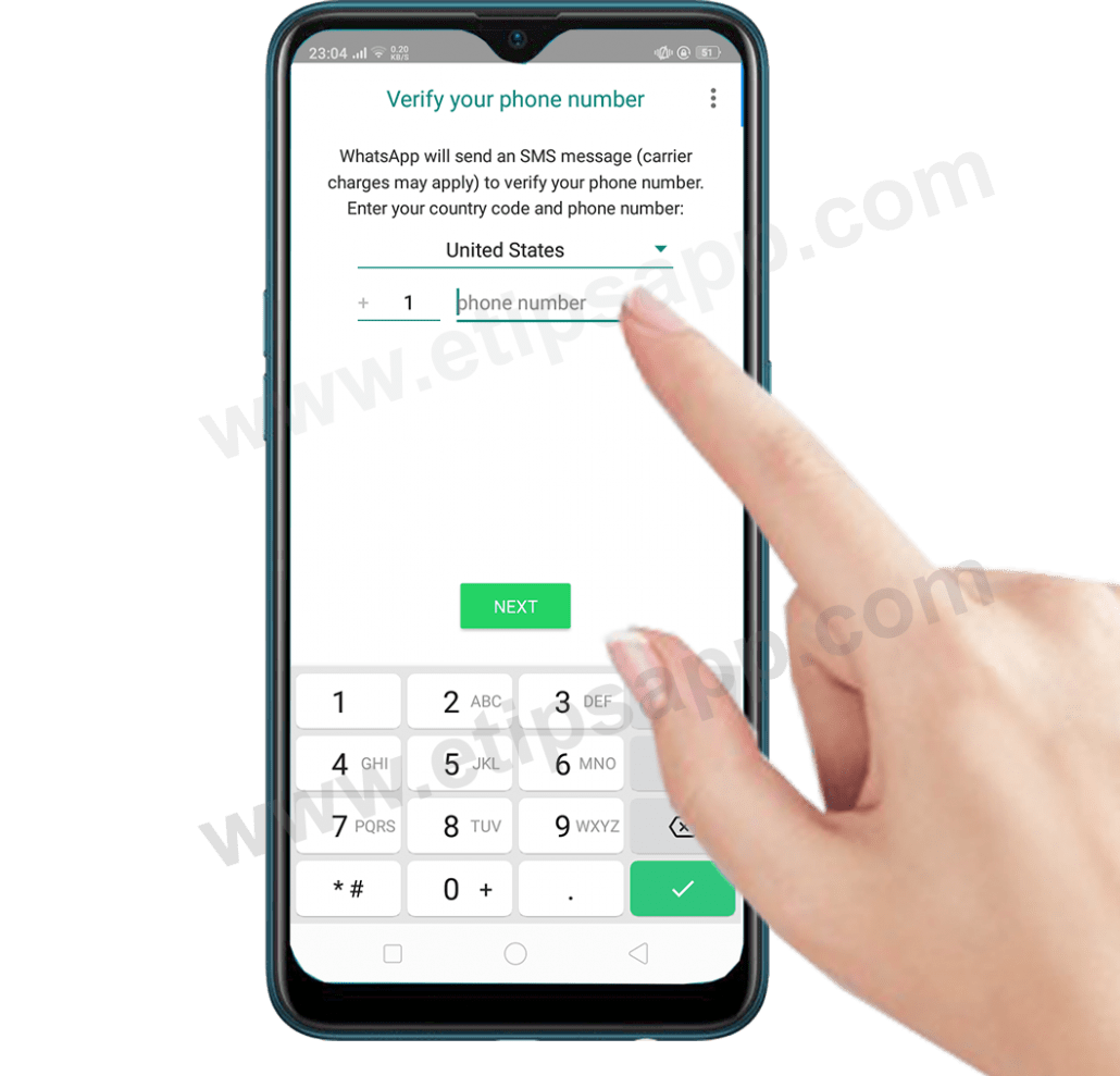 verify your phone number whatsapp