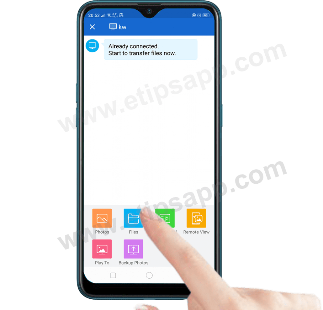 Transfer files between mobile phones and PC using SHAREit
