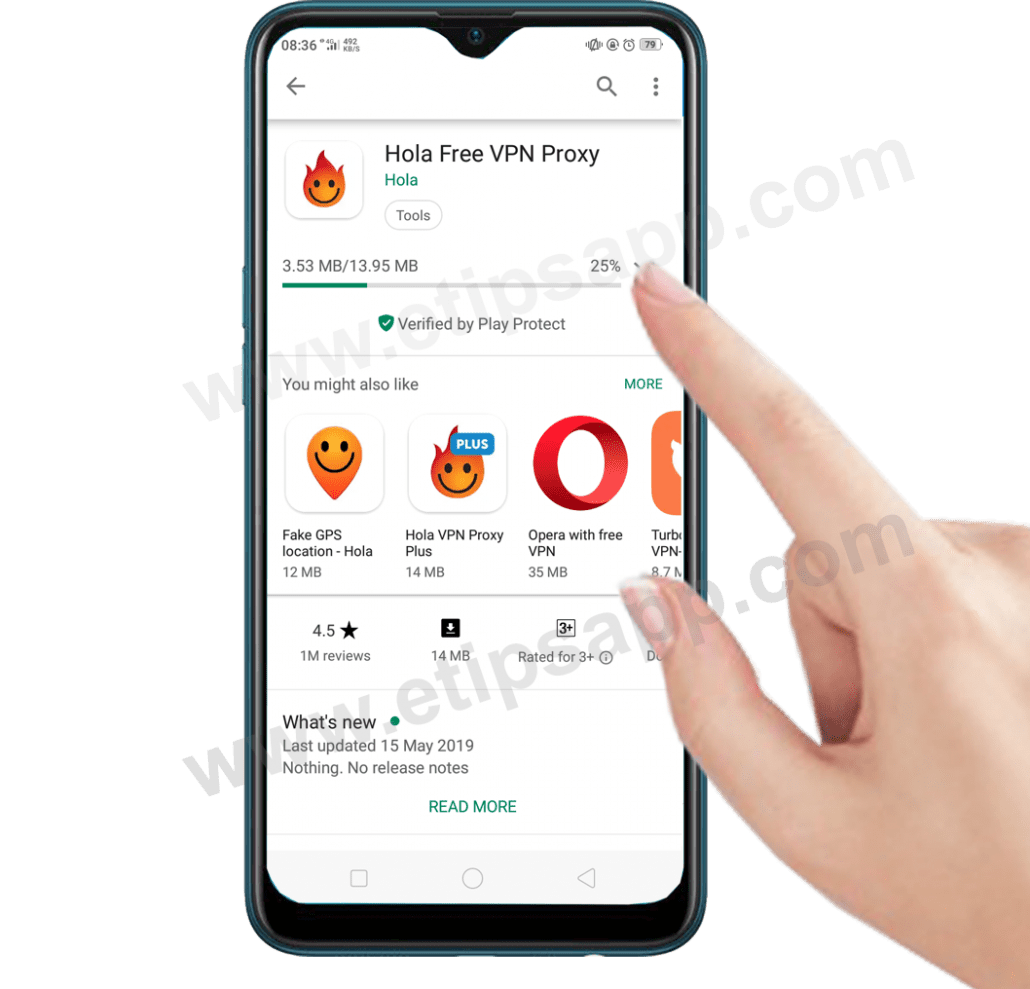 download Hola app free VPN proxy for android