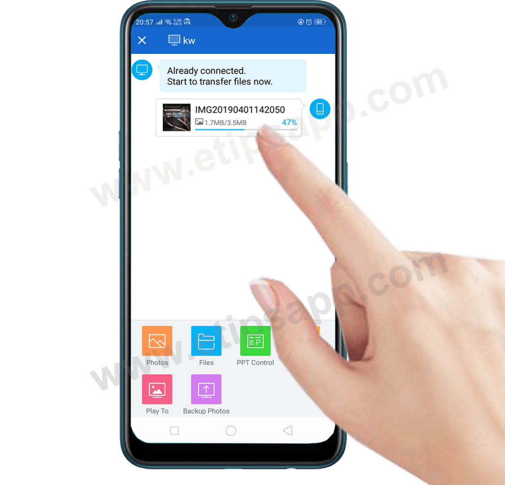 shareit files transfer pc to android