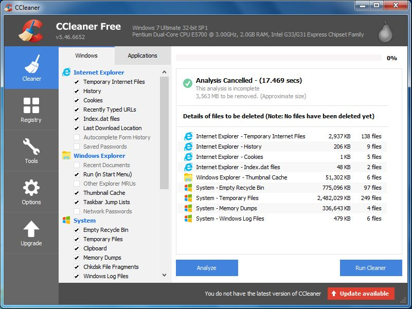 Cleaner free for windows