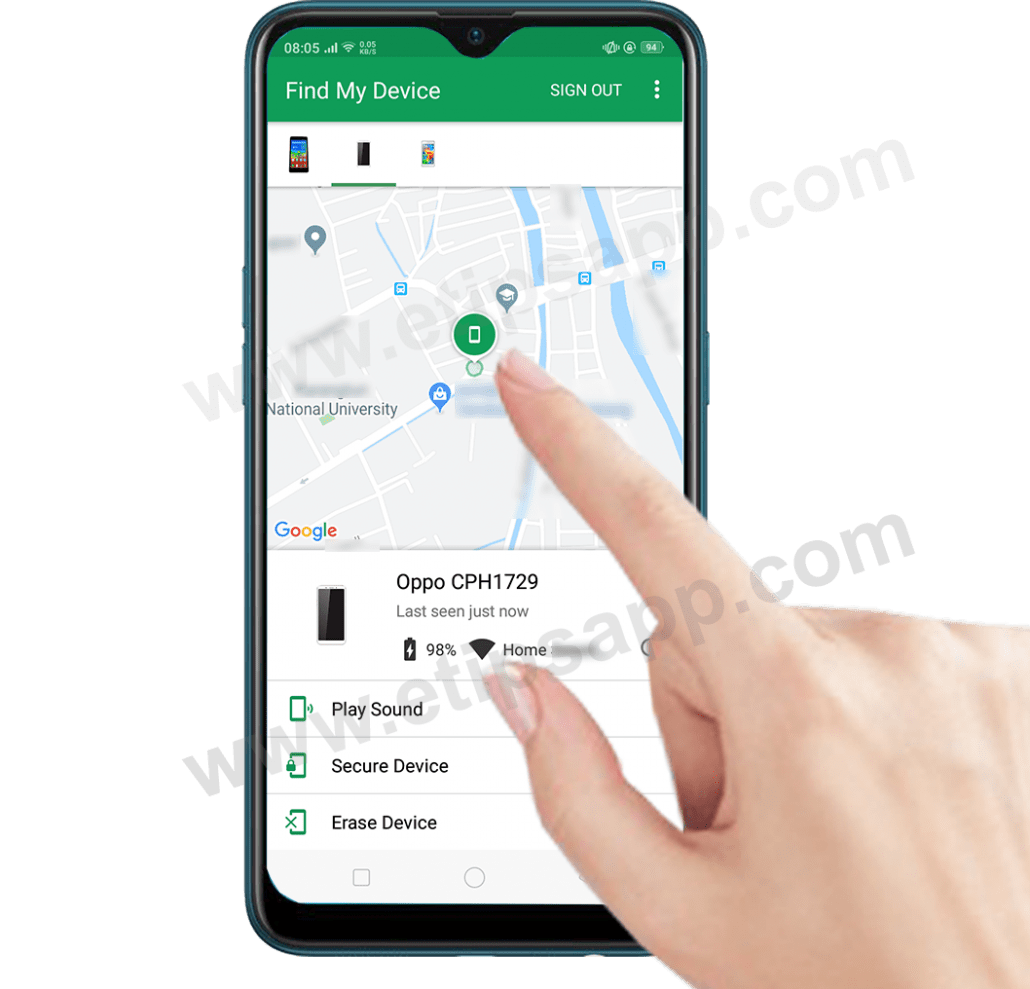 find my device phone location