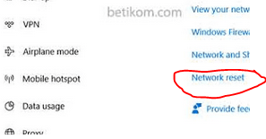 Network reset windows 810