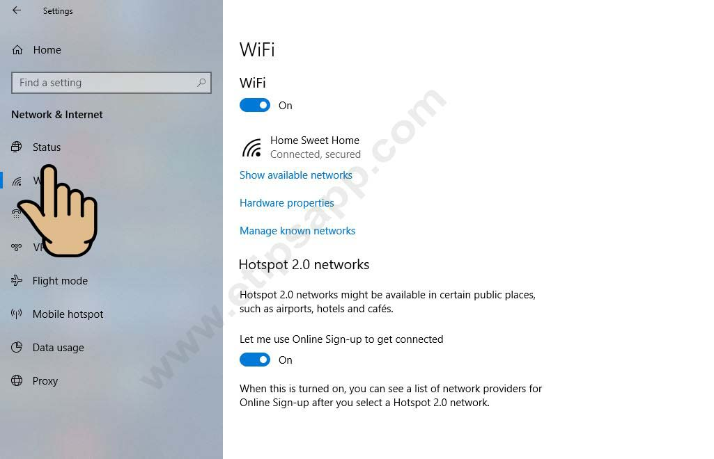 Reset network internet wifi windows 10